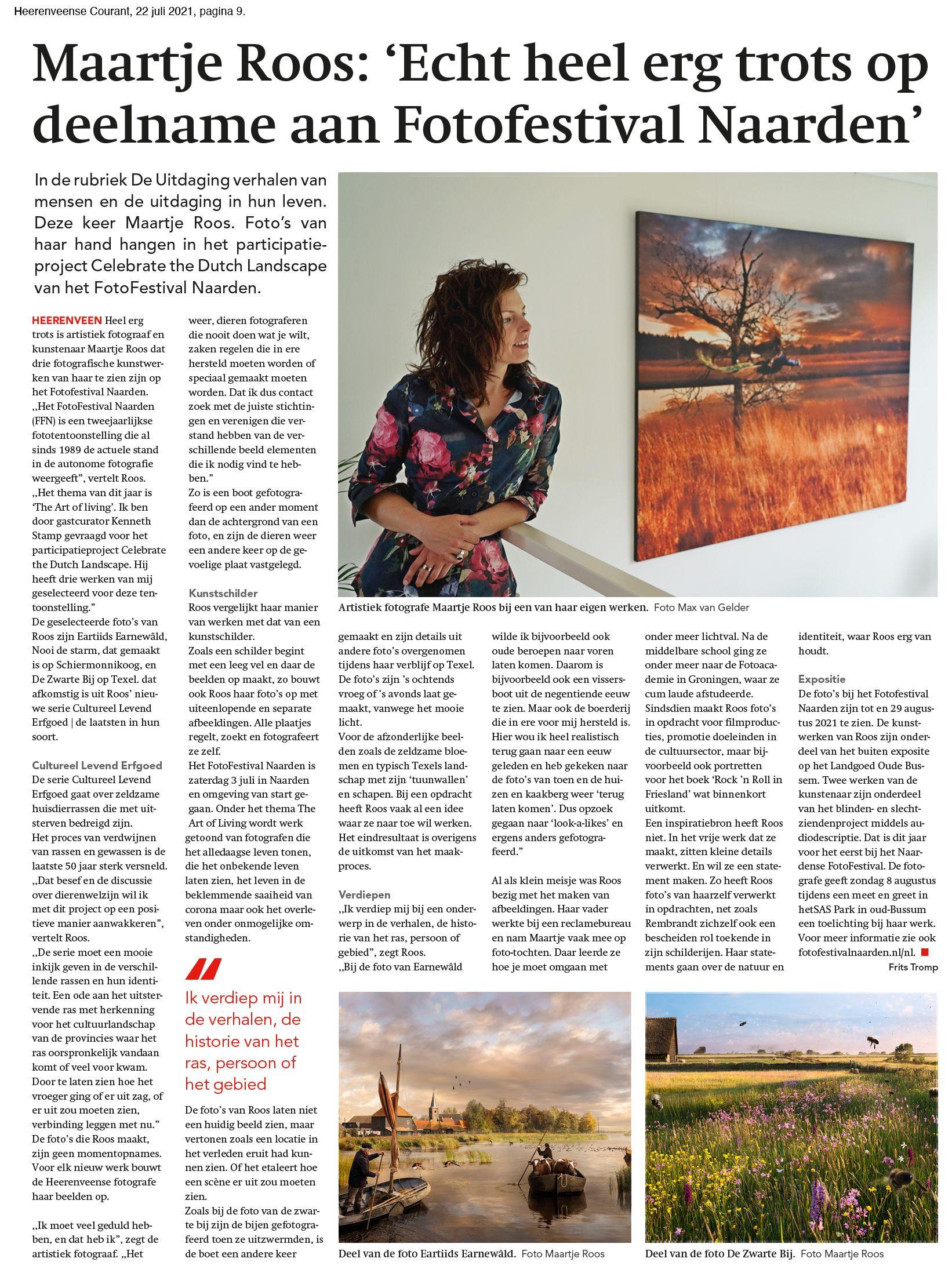 Heerenveense Courant Interview De Uitdaging