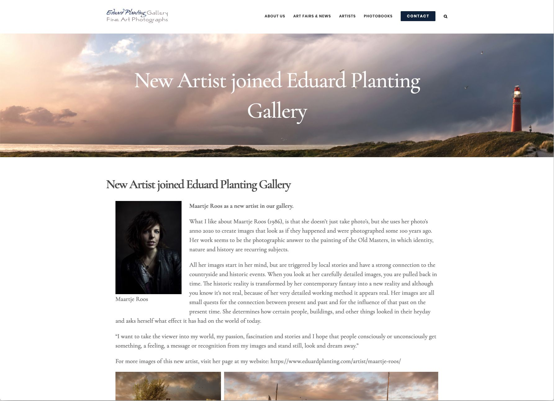 Vertegenwoordigd door Eduard Planting Gallery