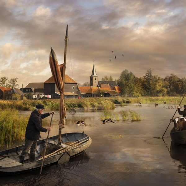 Earnewâld Eartiids Dream vroegere tijden Earnewald  Turf, visserij, veeteelt, boer, rietsnijder Wester Postma Kleinhuis ©Maartje Roos